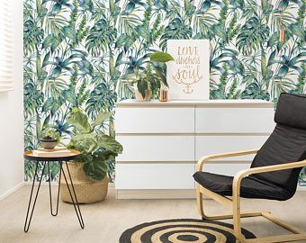Image Result For Palm Frond Wallpaper Room