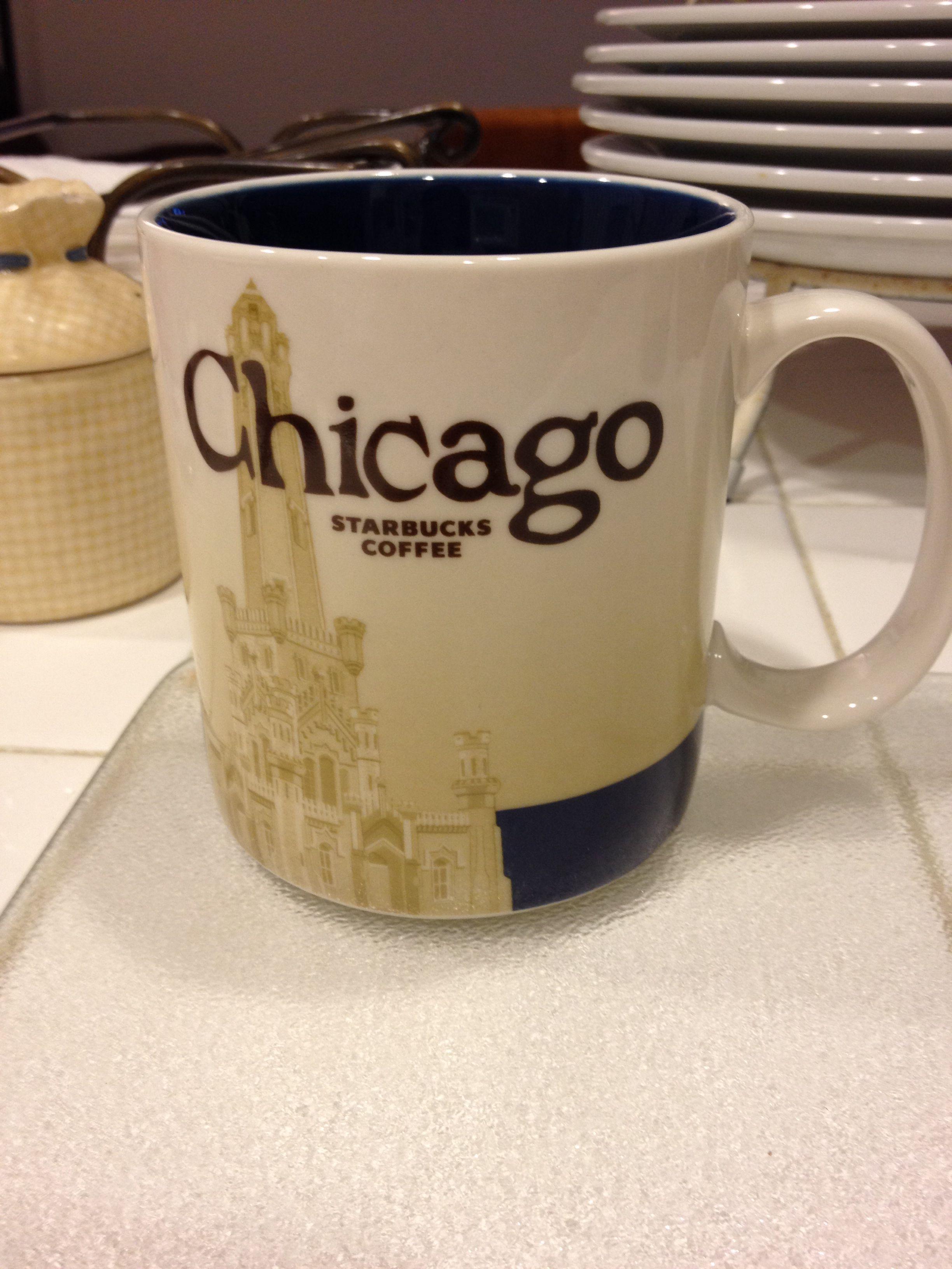 Starbucks city icon mug Chicago own! Starbucks mugs