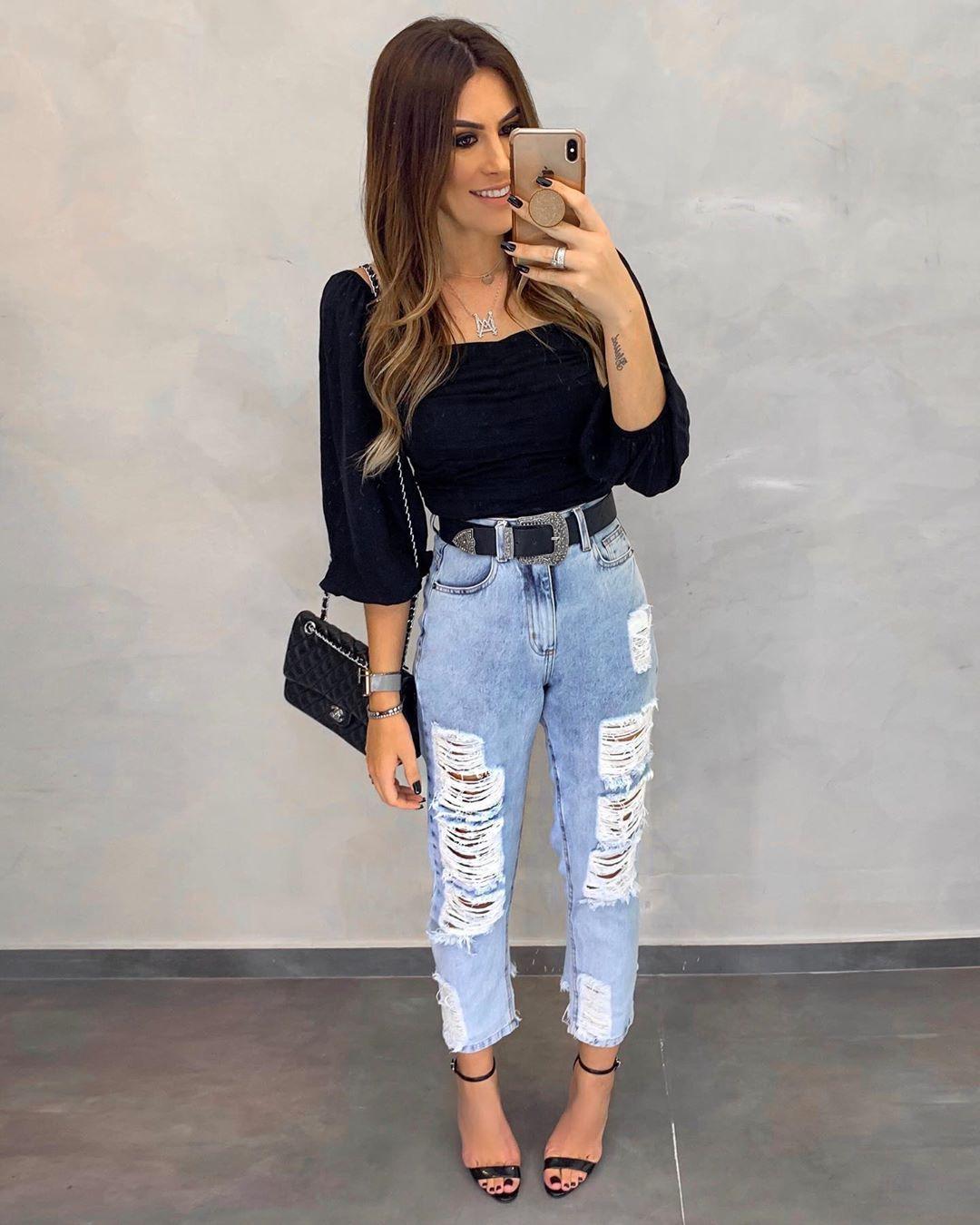 Calca Jeans Vintage Damaged Estacao Store