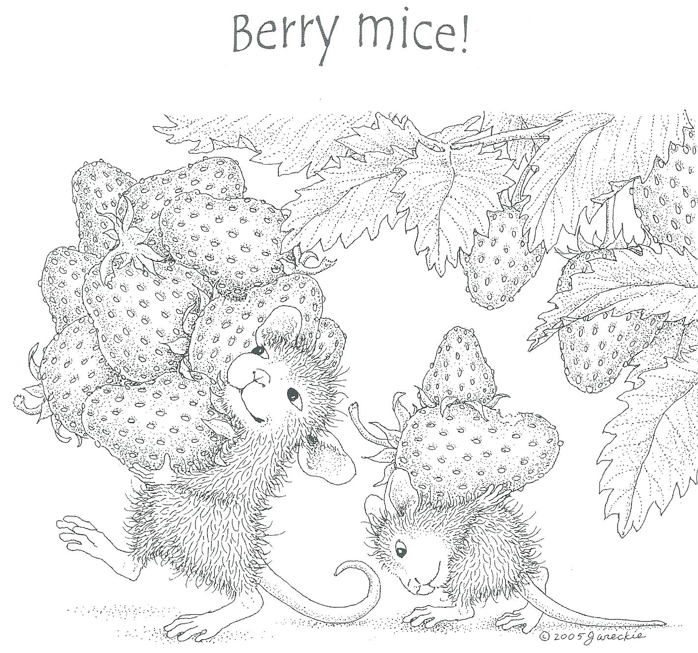 Berry Mice Mandala Kleurplaten Kleurplaten Kleurboek
