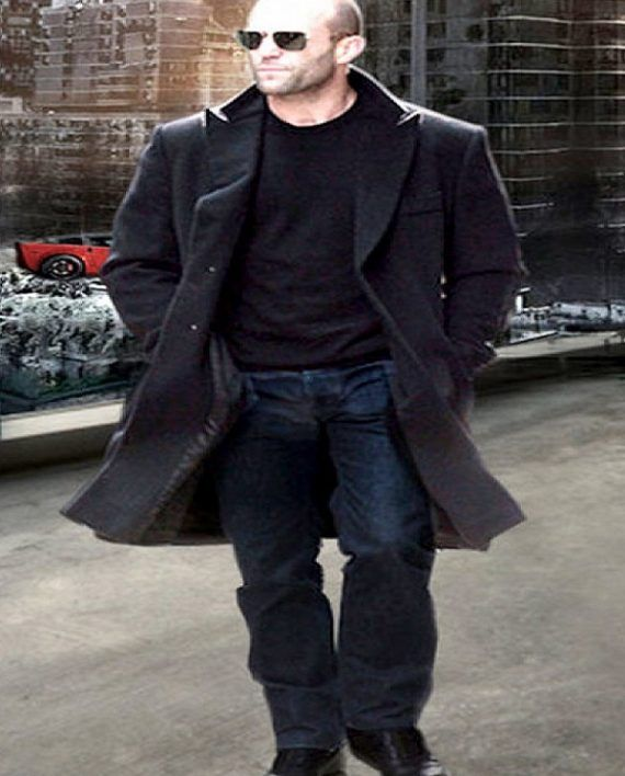 7fe9118b505 Fast and Furious 7 Jason Statham Black Coat (1)