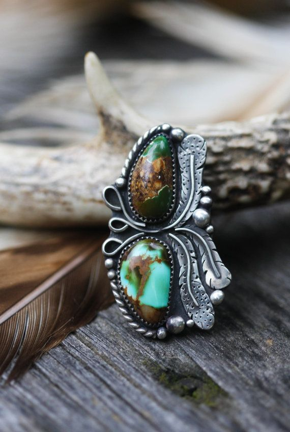 Natural Turquoise Feather Ring (Source no longer available)
