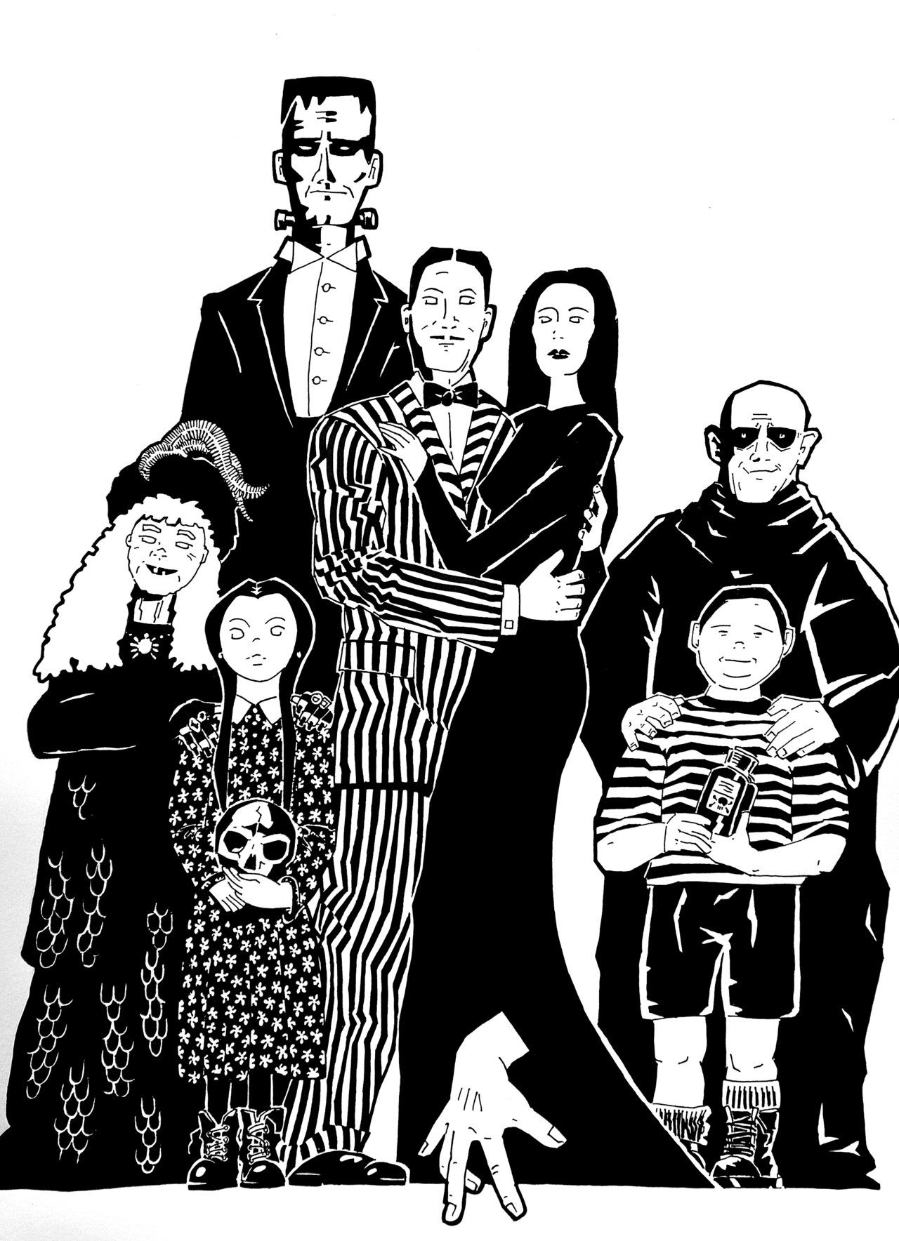Spark Enthusiasm Teacher Resources Addams Family Cartoon Addams Family Family Cartoon