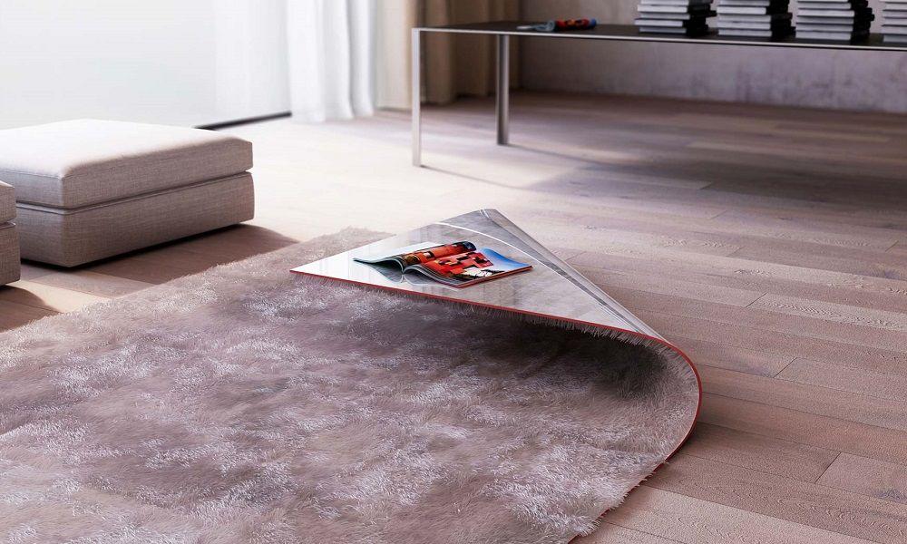 Designer cria tapete e mesa de centro em uma peça só