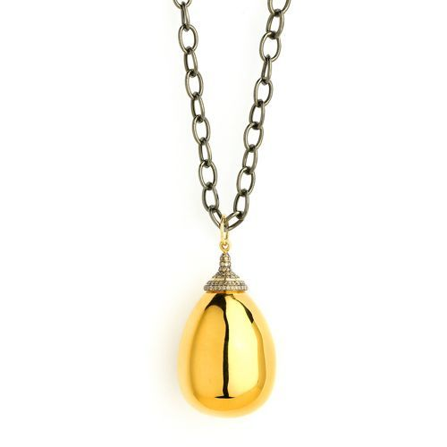 Syna 18kt Lemon Quartz Drop With Champagne Diamonds a1s9LZ