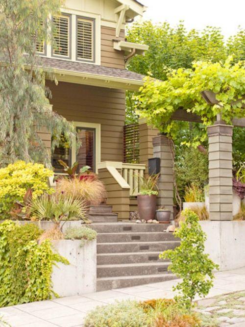 Gartengestaltung Im Vorhof U2013 Schönen Garten Im Eingangsbereich Anlegen # Anlegen #eingangsbereich #garten #