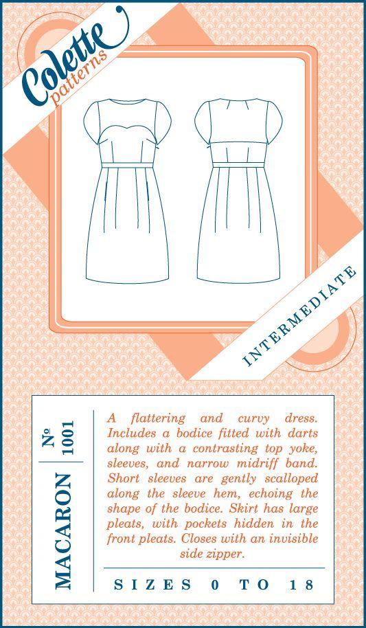 Macaron by Colette Patterns Kaufen? | Schnittmuster Kleider ...