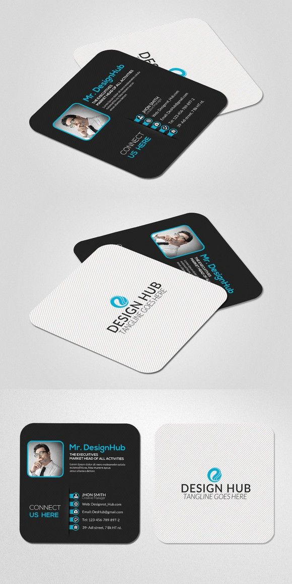 Mini social business card template pinterest card templates mini social business card template fbccfo Image collections