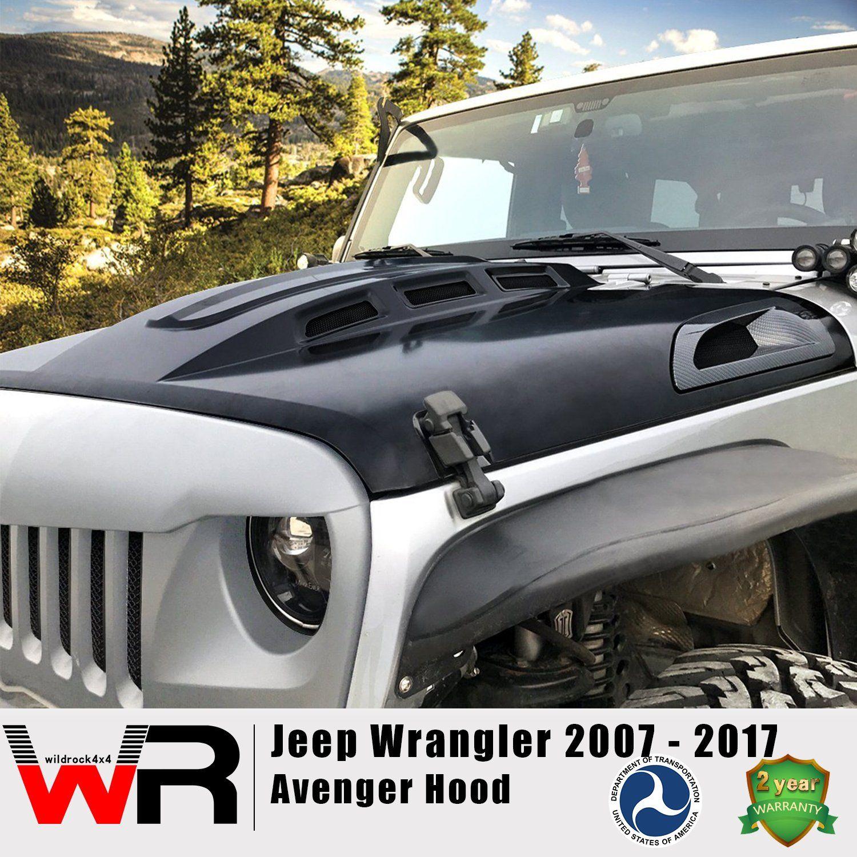 Avenger Hood For Jeep Wrangler Jk 07 17 Jeep Wrangler Jeep Wrangler Jk