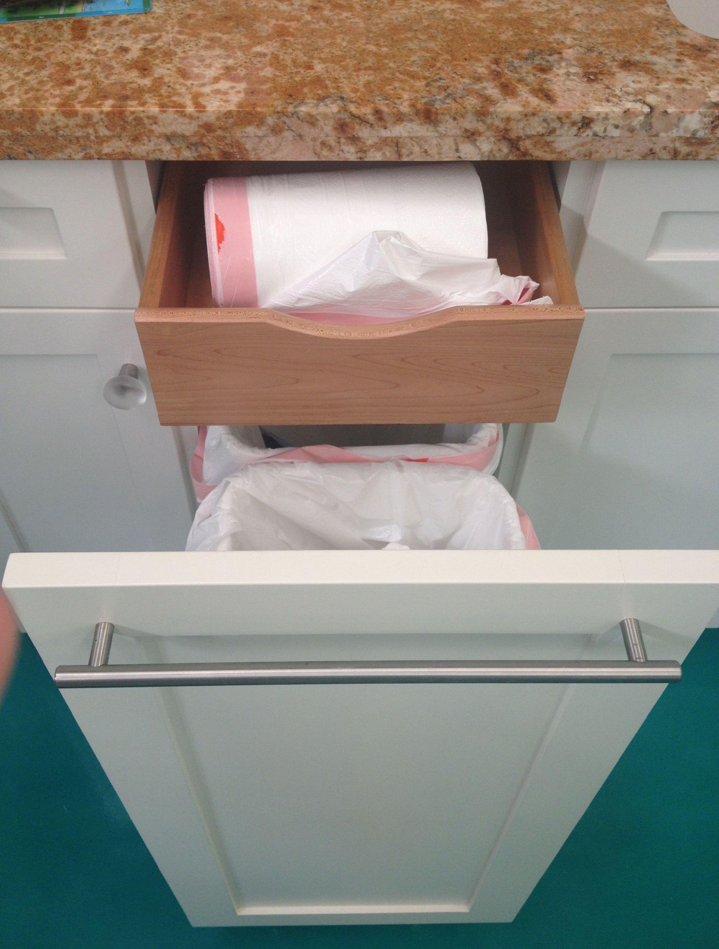Kitchen Cabinets Color Combination Hidden Drawer Inside Garbage