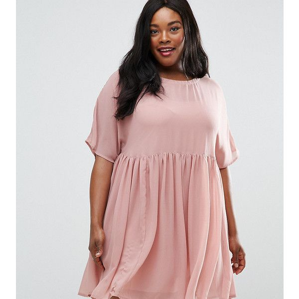 ASOS CURVE Smock Dress ($28) ❤ liked on Polyvore featuring dresses ...
