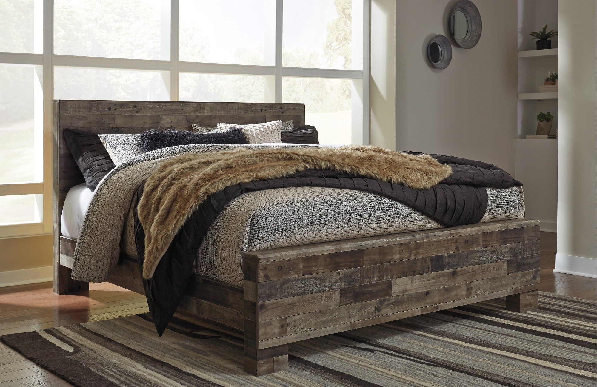 Modern Farmhouse Rustic King Size Bed Broadmore Rustic Queen