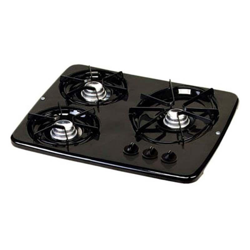 56471 Black 3 Burner Drop-in Cooktop Atwood