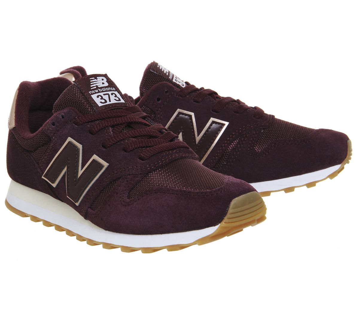 cheap for discount ae85f c3ede New Balance 373 burgundy   rose gold size 5, Office
