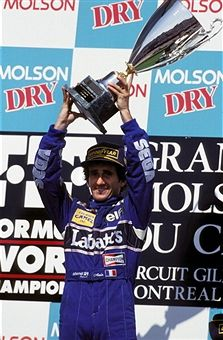 victory of Alain Prost in Montreal, Canada on June 13, 1993-Alain Prost (Williams Renault).