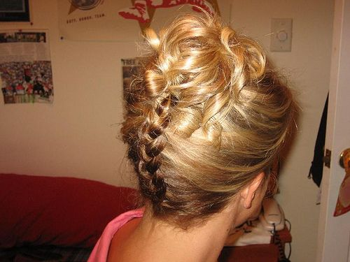 Admirable French Braid Colors French Braid Up The Back Of This Do Have Short Hairstyles For Black Women Fulllsitofus