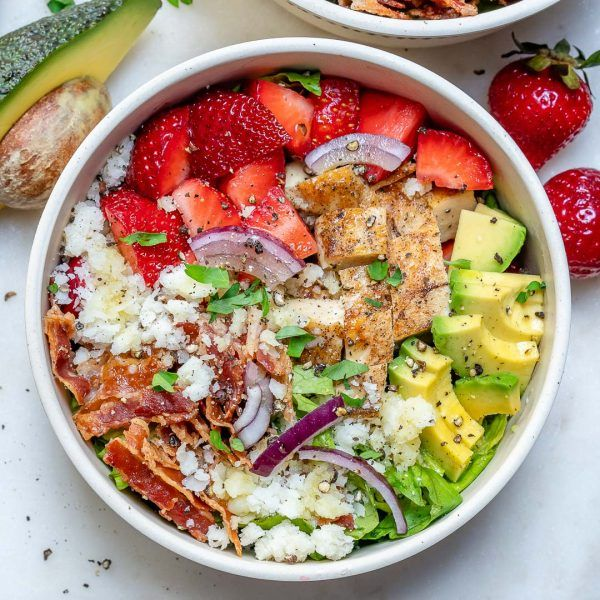 Chicken Strawberry Salad Bowls for Beautiful Clean Eats!