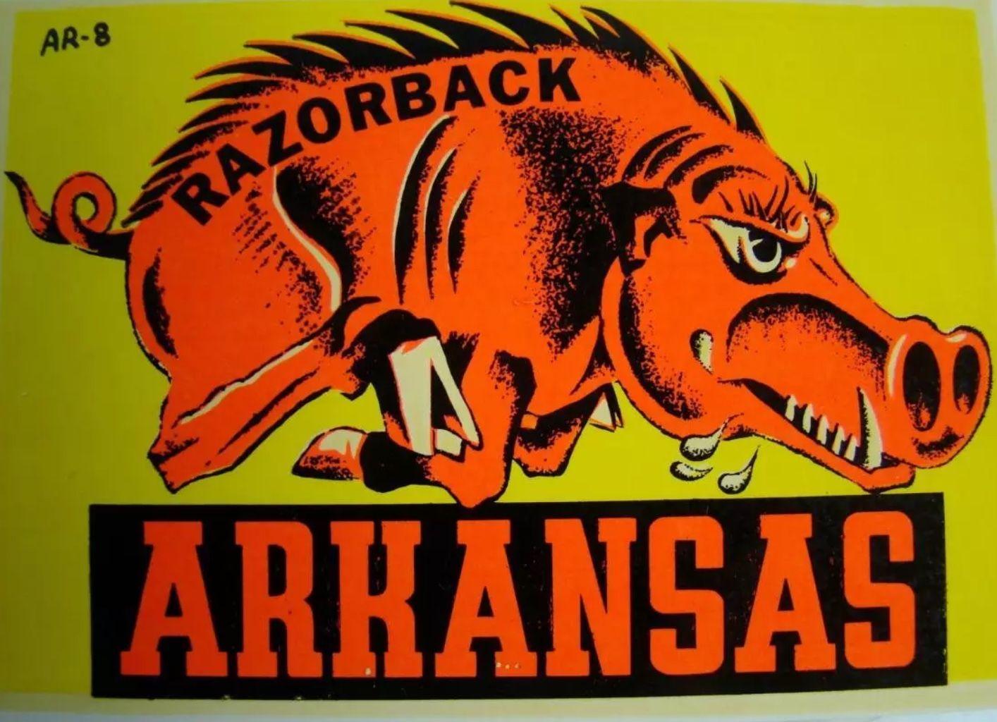 Pin By Tim Nelson On Arkansas Old Logo Vintage Logo College Logo