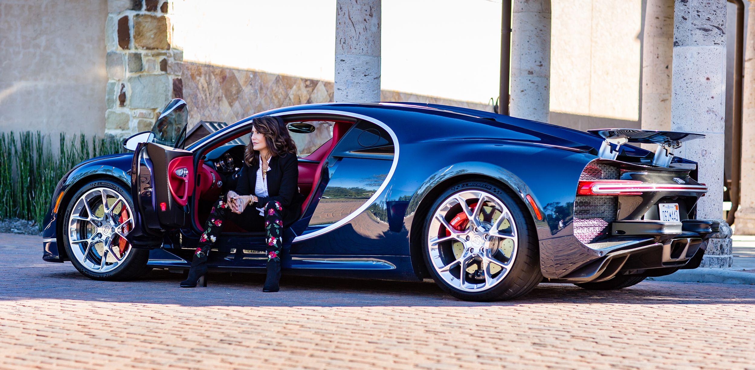 Bugatti Chiron From Bugatti Houston On The Set Of Private Driving Event With Diane Caplan From Brightcatch Media Bugatti Bugatti Chiron Motor Car