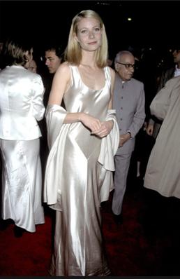 4a17b46cce90 Gwyneth Paltrow in champagne satin (idea for bridesmaid dress)