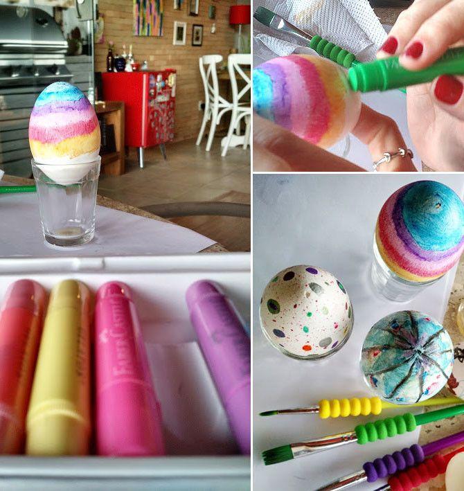 Como pintar ovos de galinha para Páscoa Clarissa Cake Pops, Easter, Food -> Como Enfeitar Ovo De Galinha Para Pascoa