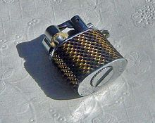 Vintage Japan Mini Mesh Look  Lighter Charm   FREE Shipping To USA