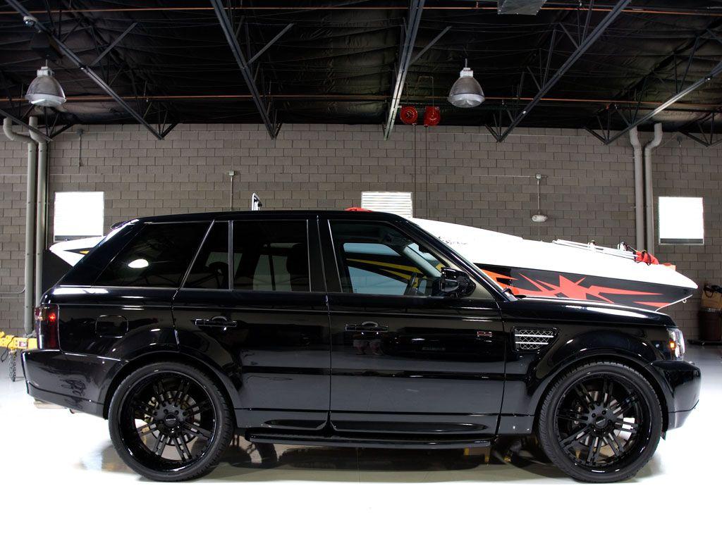 All black range rover
