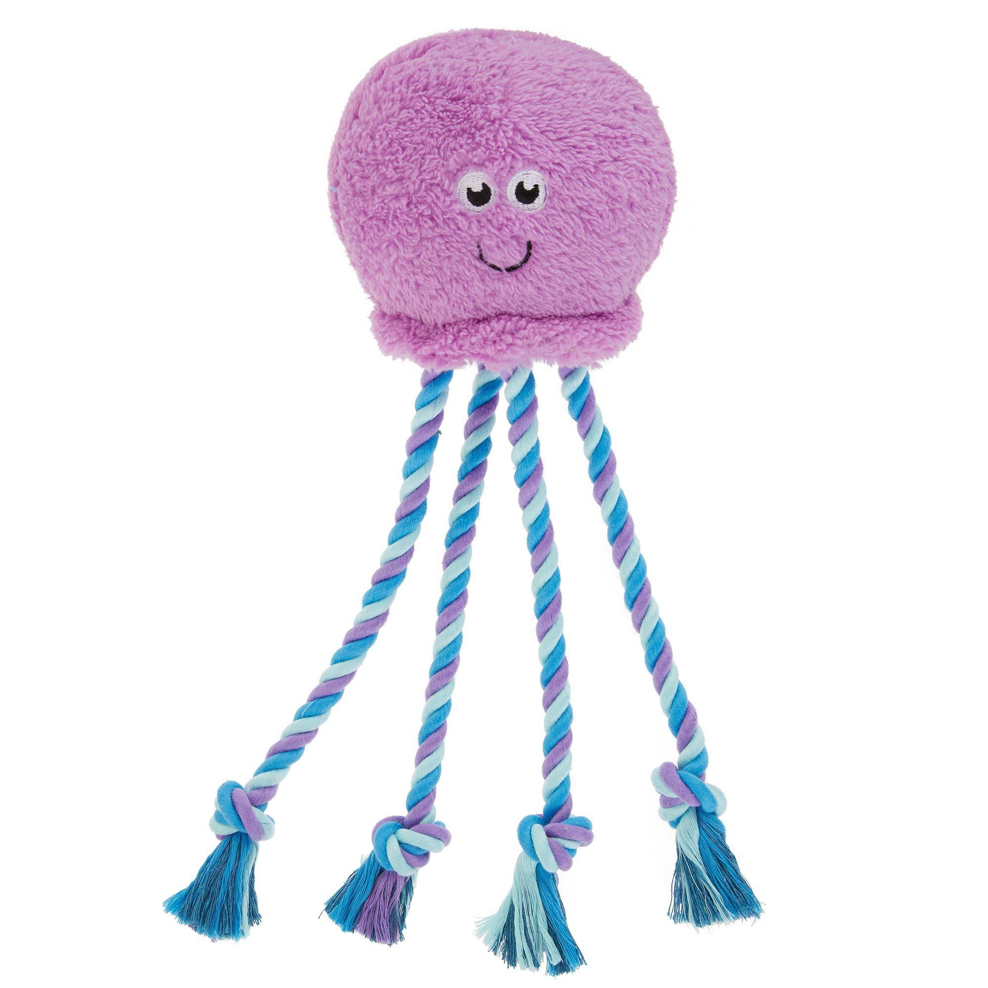 Top Paw Octopus Puppy Dog Toy Plush Rope Plush Dog Toys