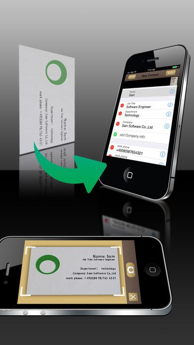 Samcard pro business card scannerreadervisiting by samteam is now the best business card readers for iphone apppicker applists 9506 colourmoves