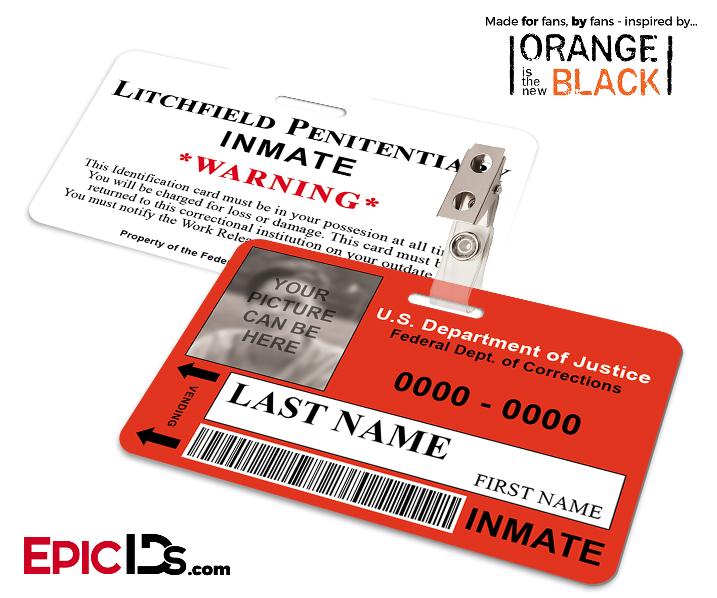 Litchfield Penitentiary 'OITNB' Inmate Wearable ID Badge