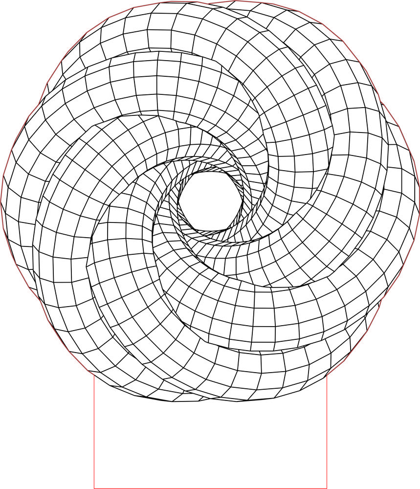 Spiral led 3d illusion lamp vector file