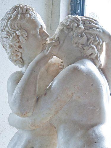 Cupid and Psyche Roman copy of 2nd century BCE Greek original