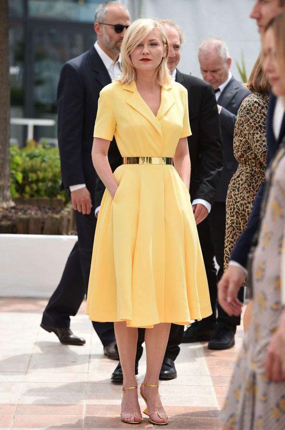 من برأيك صاحبة أجمل فستان أصفر في كان Fashion Dresses Fashion Dresses