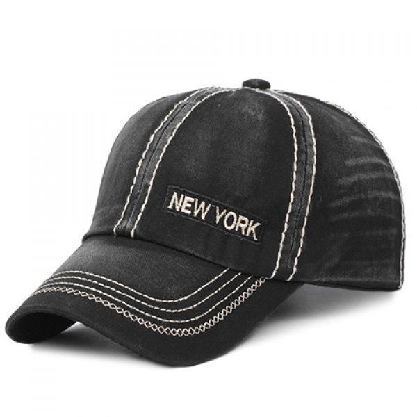 5.54$  Buy now - http://digji.justgood.pw/go.php?t=180457501 - Stylish Letter Embroidery and Sewing Thread Embellished Men's Baseball Cap 5.54$
