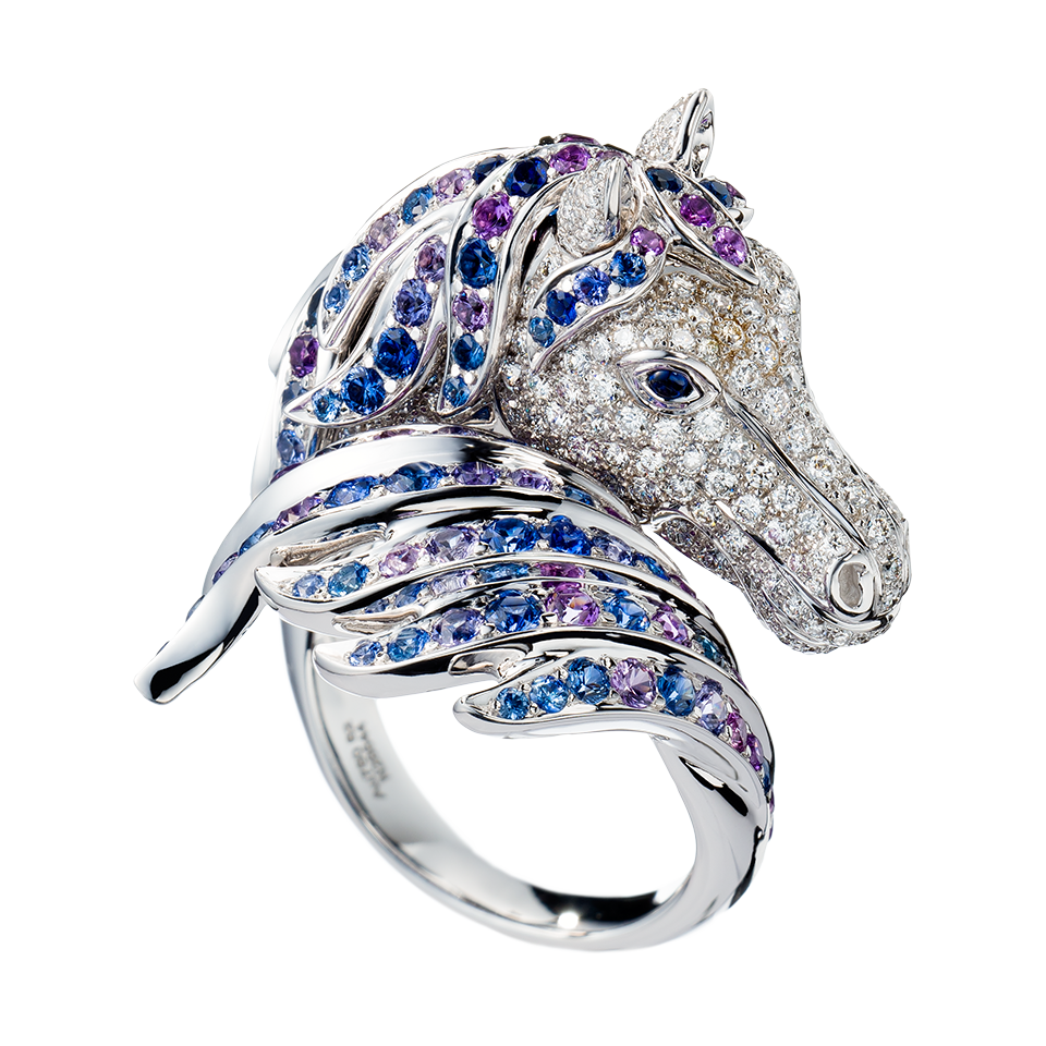 ペガサス リング, a Maison Boucheron Jewelry creation. A Boucheron creation tells a Story, that of the Maison and your own.