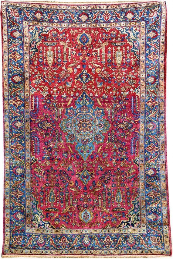 silk kashan, ## central persia, end of 19th century : Lot 7092