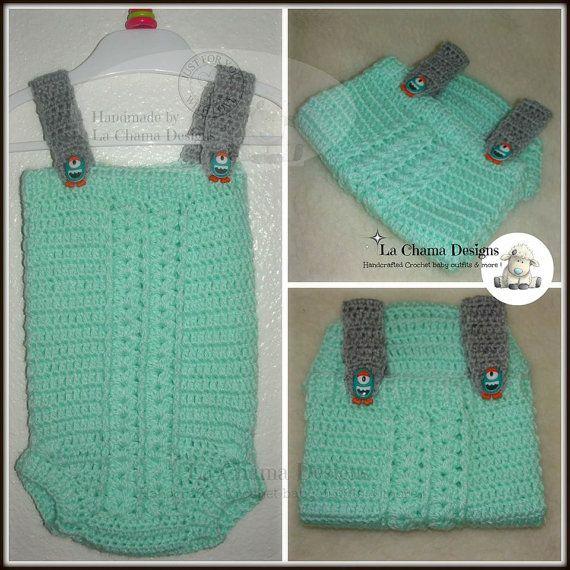 Crochet Romper. Crochet baby romper. Baby romper.
