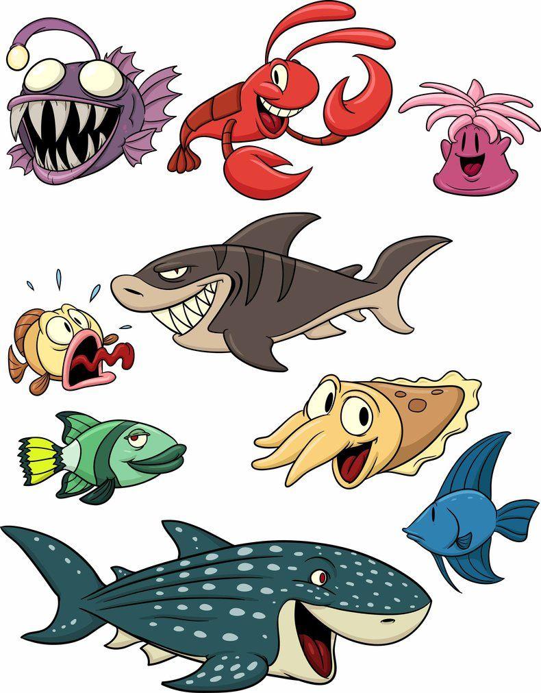 Caricatuas De Animales Terrestres Y Acuaticos Para Imprimir Fotos O Imagenes Portadas Para Facebook Dibujos De Animales Tiburon Animado Animales Terrestres