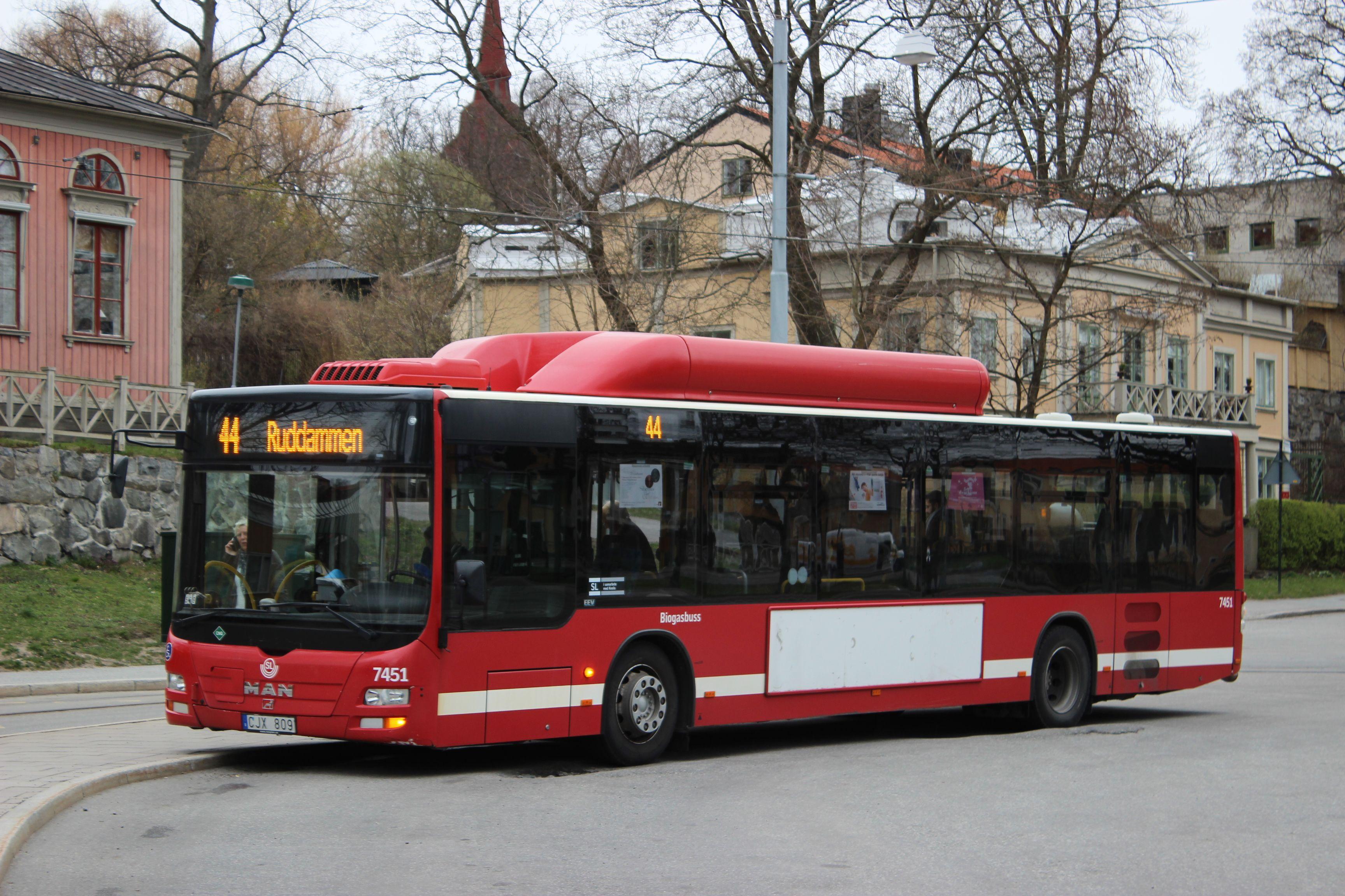bio gas bus Djurgården, Sweden
