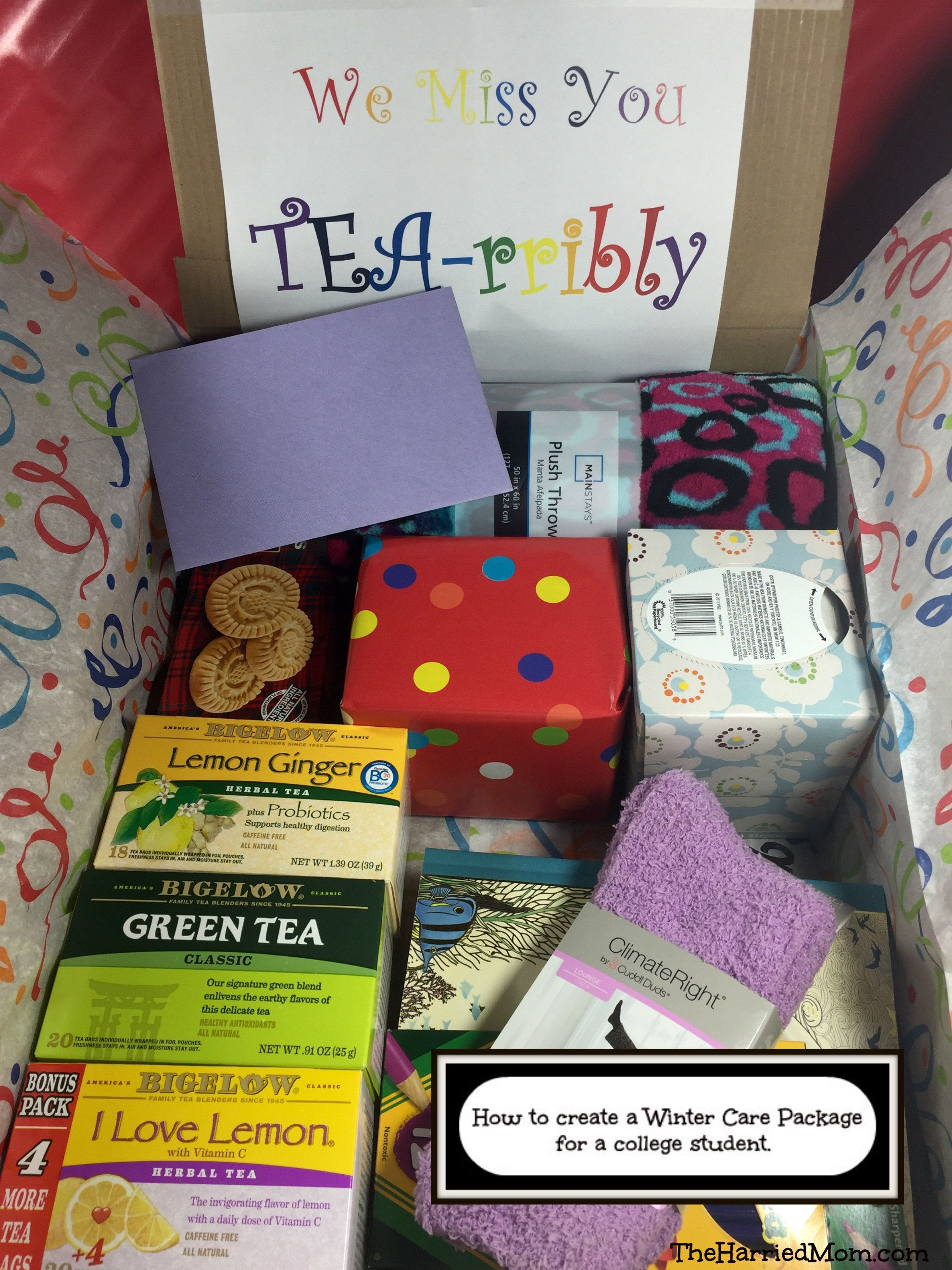 How to create a winter care package for a college student