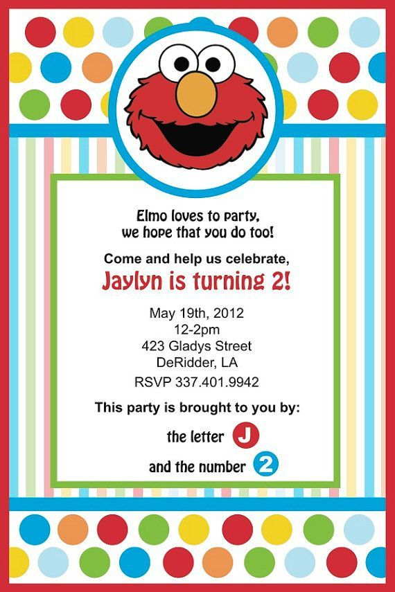 CoolNew Create Easy Elmo Birthday Invitations Ideas