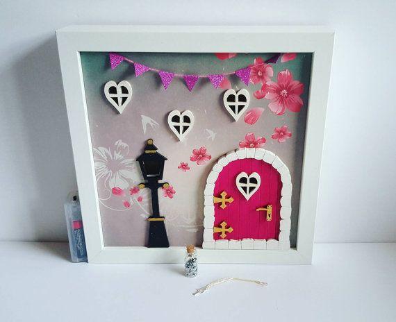 Fairy door / fairy house light up frame  by mapleandgrace on Etsy