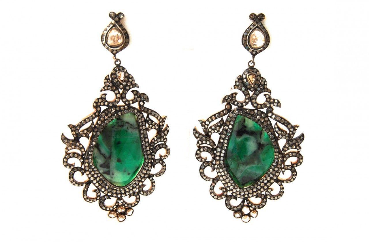Liliro Boutique - Liliro Emerald Earrings, $5,500.00 (http://www.liliro.com/liliro-emerald-earrings/)