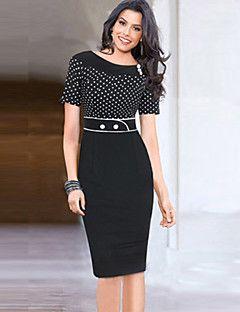 moda ronda puntos de cuello de la mujer párr – MXN $ 253.48