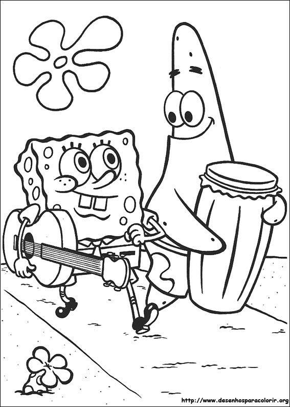 Resultado de imagem para desenhos para colorir do bob esponja ...