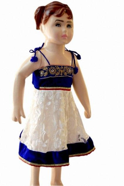 8cc5dcb7d Classy Infant Kids Traditional Wedding Dress in White and Blue ...