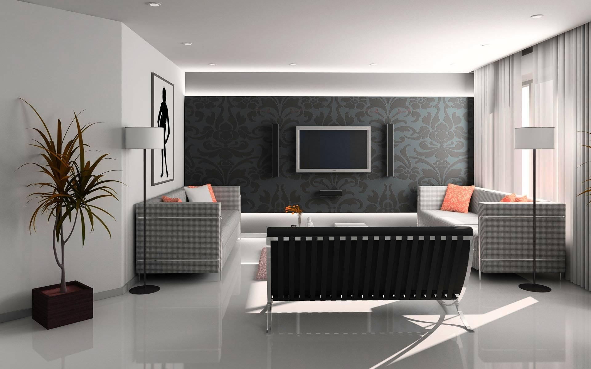 Wandgestaltung Ideen Farbe Wohnzimmer 3