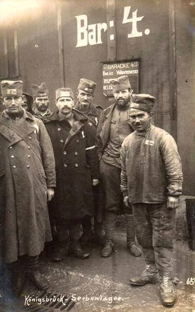 WWI; Serbian POWs in Germany.