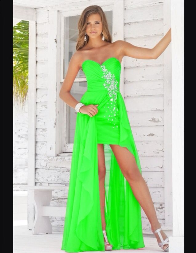 Neon green!! | Dresses | Pinterest | Prom dresses, Dresses and Prom