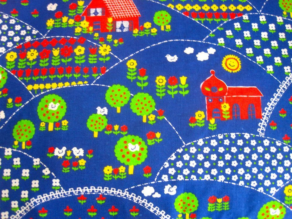 Fun 1970s Unused Children s Fabric - 2 Metres | folk me | Pinterest ...